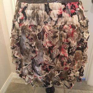 Rachael & Chloe floral mini shirt